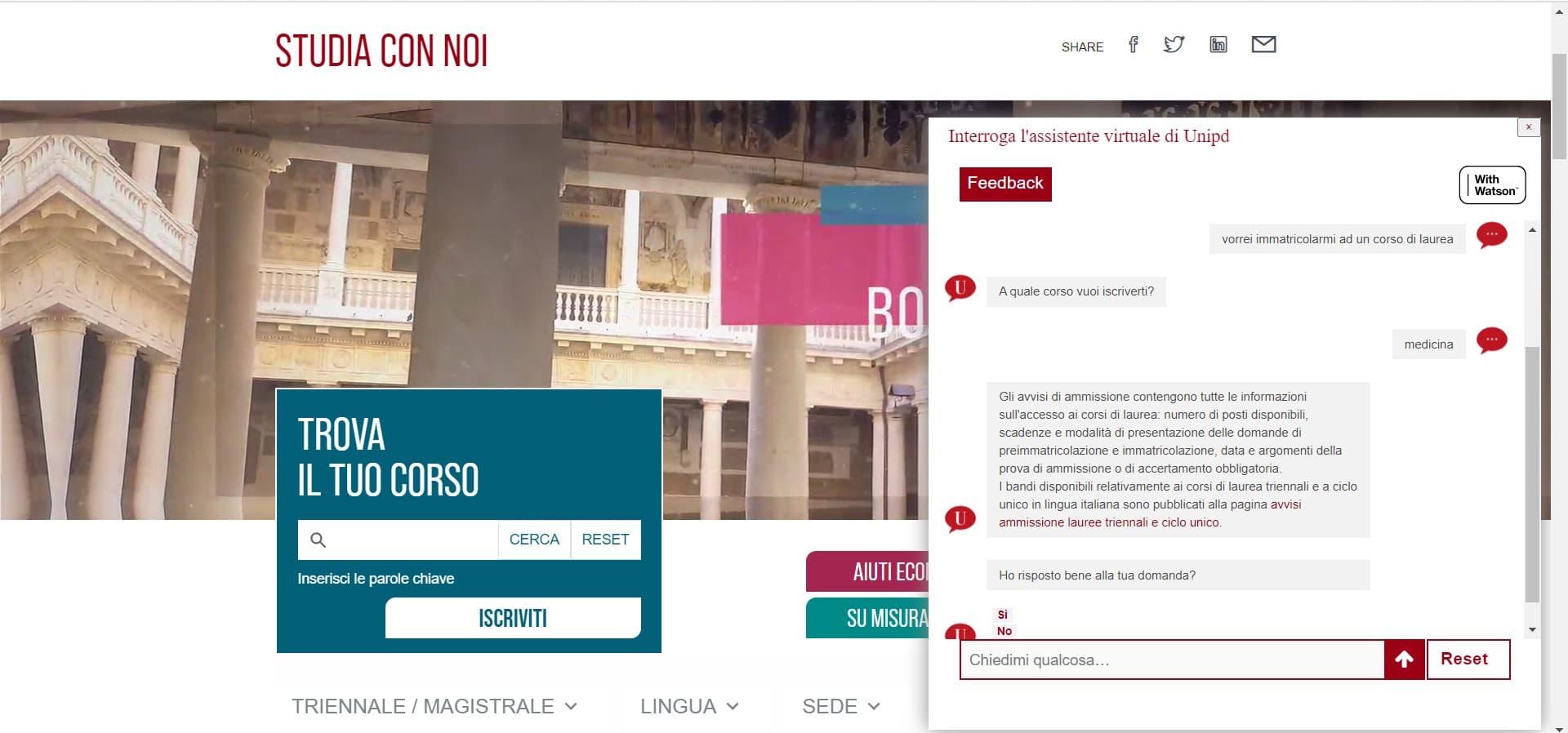 IBM Watson al servizio degli studenti dell'Università di Padova