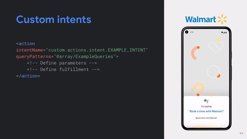 Custom Intents - App Actions - Google I/O 2021