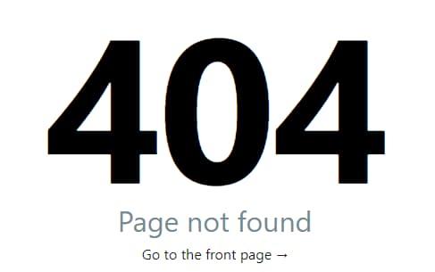 Un esempio di messaggio relativo ad uno status code 404
