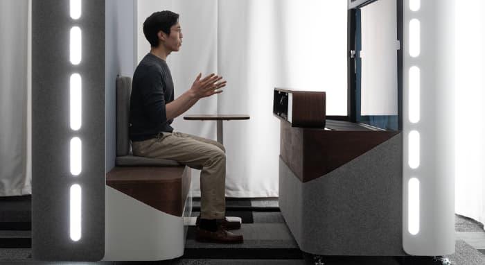 Project Starline durante l'utilizzo negli uffici di Google