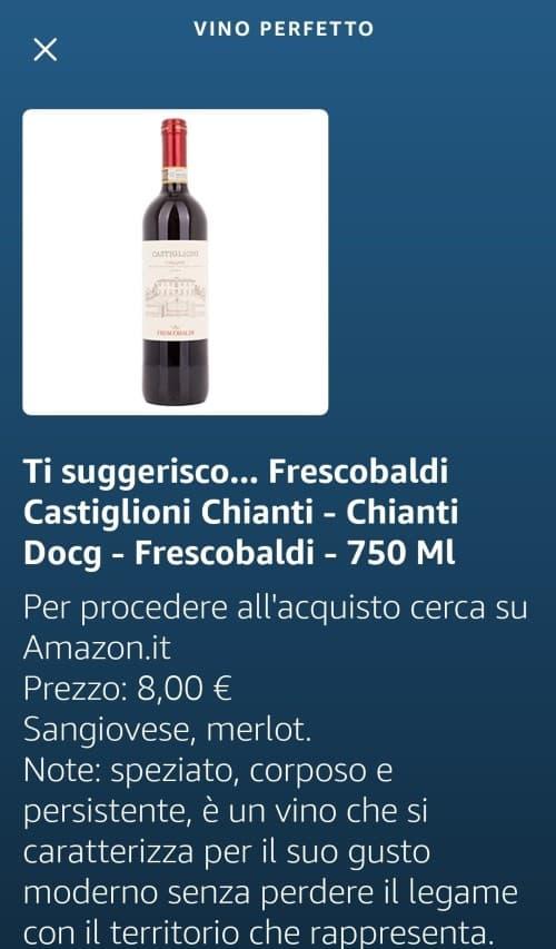 """La selezione del vino dell'applicazione vocale """"Vino perfetto"""""""