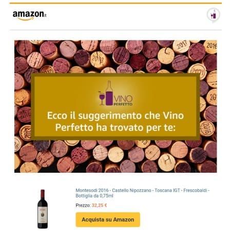 La CTA di acquisto nella mail di Amazon